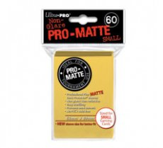 Sleeves Pro-Matte Yellow Small (60 Sleeves)